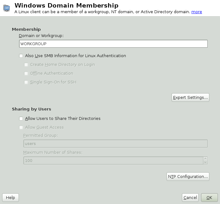 openSUSE 12 1: Глава 5  Active Directory Support